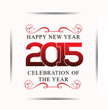 Happy new year 2015 text background. Vector illustration Royalty Free Stock Images