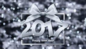 2017 Happy New Year text Royalty Free Stock Photo