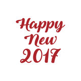 Happy New Year 2017. Text calligraphic lettering design card template Royalty Free Stock Photography