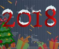 2018 Happy New Year text for car. Stock Images
