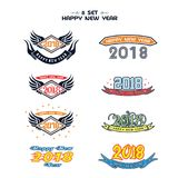 2018 Happy New Year. Fun 2018. Vector illustration. Banner. Poster. 2018 Happy New Year text for card for your design. Fun 2018. Vector illustration. Banner Royalty Free Stock Images
