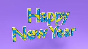 Happy new year text 3d rendering Stock Photography