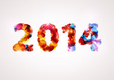 Happy new year 2014. Text Design Royalty Free Stock Images