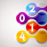 Happy new year 2014. Text Design Stock Images
