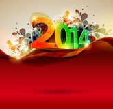 Happy new year 2014. Text Design Stock Photography