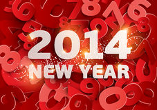 Happy new year 2014. Text Design Royalty Free Stock Photos
