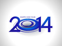 Happy New Year 2014. Text Design royalty free illustration