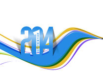 Happy New Year 2014. Text Design vector illustration