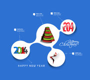 Happy New Year 2014. Text Design stock illustration