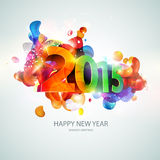 Happy new year 2014. Text Design Royalty Free Stock Photography