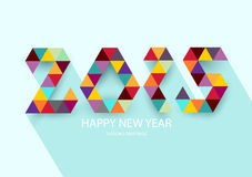 Happy new year 2015. Text Design Royalty Free Illustration