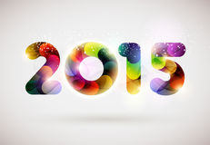 Happy new year 2015. Happy new year 2014 Text Design Stock Illustration