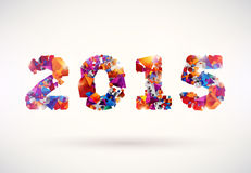 Happy new year 2015. Text Design stock illustration