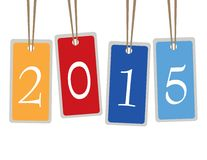 Happy new year 2015. Text Design Royalty Free Stock Images