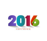 Happy new year 2016 Text Design.  Royalty Free Stock Photo