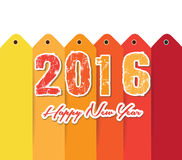 Happy new year 2016 text design Royalty Free Stock Image