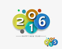 Happy new year 2016 Royalty Free Stock Photos