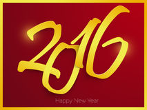 Happy new year 2016 text design Royalty Free Illustration