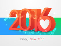 Happy new year 2016 text design Stock Photography
