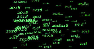 Happy new year 2018 Text Design with black background Royalty Free Stock Photo