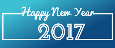Happy New Year 2017 text design celebration greeting card. Vector Illustration Royalty Free Stock Photo