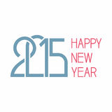 Happy new year 2015 Text Design. Happy new year 2015 creative greeting card design Royalty Free Stock Images