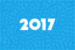 Happy New Year 2017. Text Design. Flat Vector Illustration. Happy New Year 2017. Text Design. Flat Vector Illustration Royalty Free Stock Photo