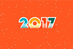 Happy New Year 2017. Text Design. Flat Vector Illustration. Happy New Year 2017. Text Design. Flat Vector Illustration Stock Image