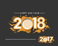 Happy new year 2017 and 2018 Text Design. Vector illustration Stock Images