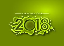Happy new year 2018 Text Design. Happy new year 2018 Text Design, Vector illustration Royalty Free Stock Images