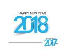 Happy new year 2017 and 2018 Text Design. Vector illustration Stock Photos