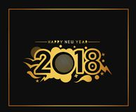Happy new year 2018 Text Design Royalty Free Stock Photography