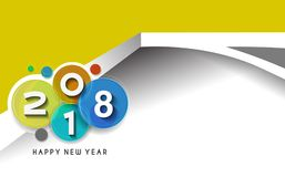 Happy new year 2018 Text Design Stock Image