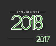 Happy new year 2018 - 2017 Text Design Royalty Free Stock Images