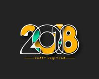 Happy new year 2018 Text Design Stock Photos