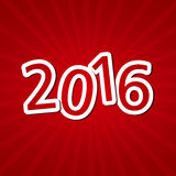 Happy New Year Text Design Stock Image