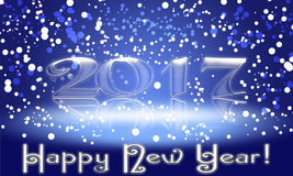 Happy New Year 2017 text design.  illustration Royalty Free Stock Image