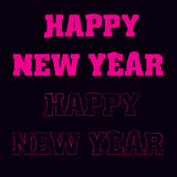 Happy New Year text design. logo, typography. Usable as banner, greeting card, gift package etc. Stock Photos