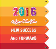 Happy new year 2016 text design. new success.  Royalty Free Stock Photography