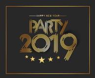 Happy New Year 2019 Text Design Patter. Vector illustration vector illustration
