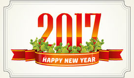 Happy new year 2017 Text Design Stock Photo