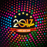 Happy new year 2017 Text Design Royalty Free Stock Photography