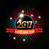 Happy new year 2017 Text Design Royalty Free Stock Image