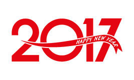 Happy new year 2017 Text Design Stock Image