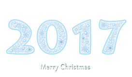 Happy new year 2017 Text Design vector Stock Image