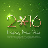 Happy New Year 2016 text design. Vector greeting illustration with golden numbers Stock Photos