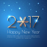 Happy New Year 2017 text design Royalty Free Stock Images