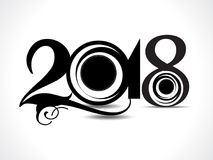 Happy new year 2018 text design. Vector illusration Stock Images