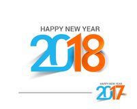 Happy new year 2017 and 2018 Text Design. Vector illustration Royalty Free Stock Photo