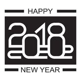 Happy new year 2018 text design Stock Photo